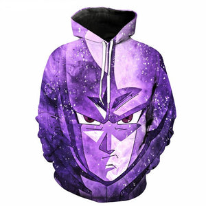 Dragon Ball Z Purple Cell 3D Print Hooded Pullover Hoodie