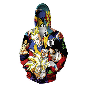 Dragon Ball Z Goku Anime Collage Jacket Hoodie