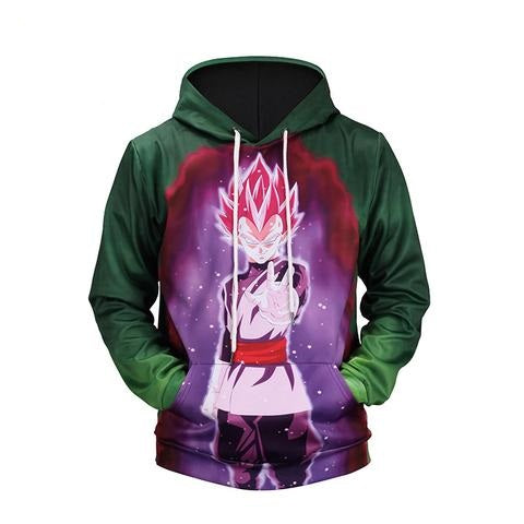 Dragon Ball Z Green Vegeta 3D printed Pullover Hoodie