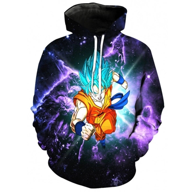 Dragon Ball Z Goku 3D Print  Space Galaxy Pullover Hoodie
