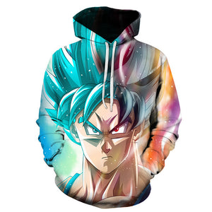 Dragon Ball Z Galaxy Goku 3D Printed Pullover Hoodie