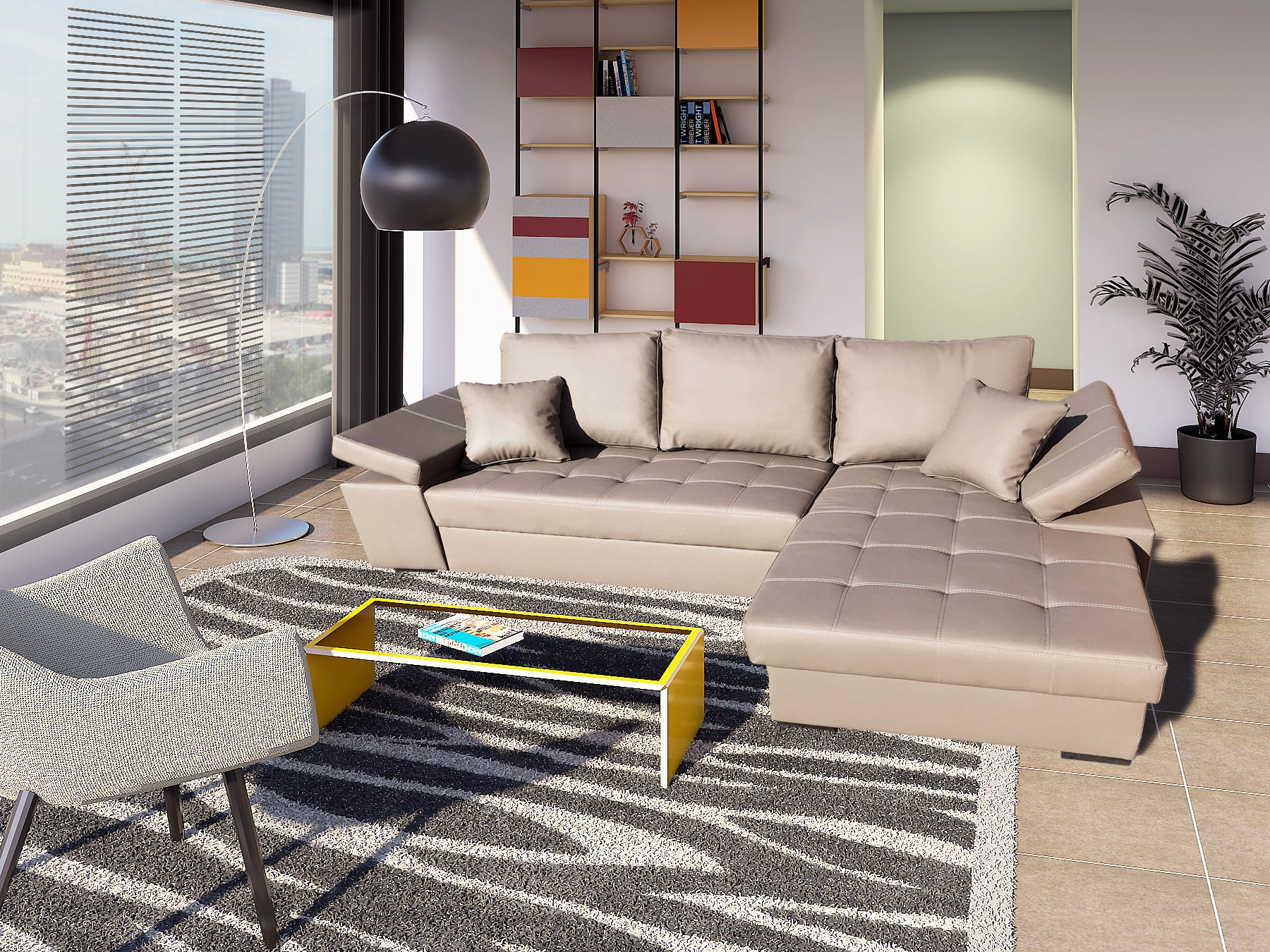 Attrayant ... FABIO   Corner Sectional Sofa Bed With Storage ...