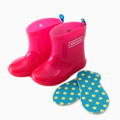 Stample Cherry Red Amechan Rain Boots