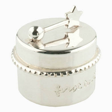 Silver Plated Tooth Box