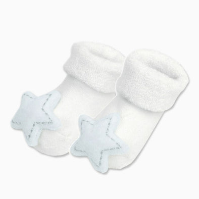 Baby Cotton 'Blue Stars' Rattle Socks