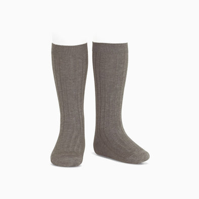 Bole Ribbed Knee High Socks