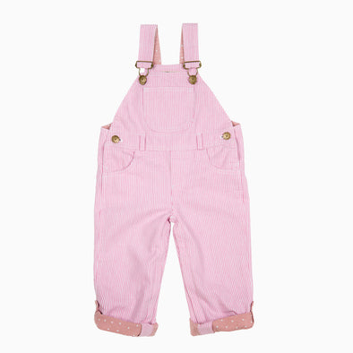 Baby Pink Stripe Dungaree