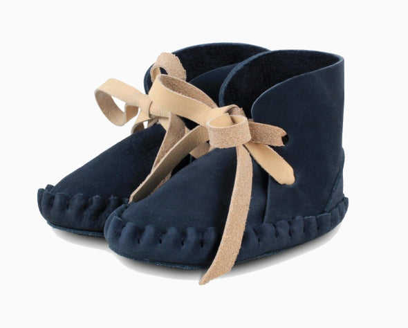 Baby Shoes Navy Blue Nubuck Pina Booties