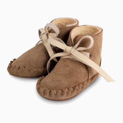 Baby Shoes Teddy Brown Suede Pina Booties