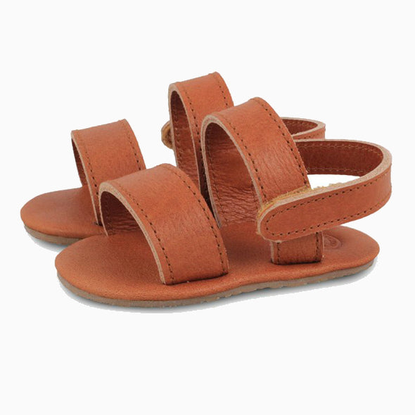 Baby Shoes Cognac Leather Sari Sandals