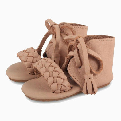 Baby Shoes Beige Leather Coco Sandals