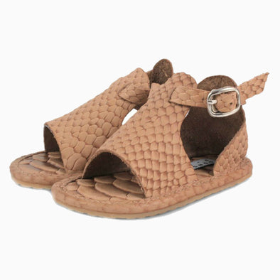 Baby Shoes Khaki Python Leather Lilo Exclusive Sandals