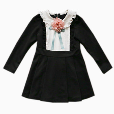 Girl Black Ensemble Dress