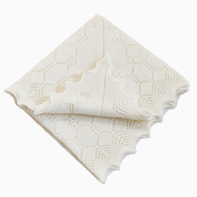 White Elegant Soft Wool Baby Shawl Gift Box