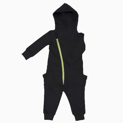 Black Organic Cotton College Jumpsuit