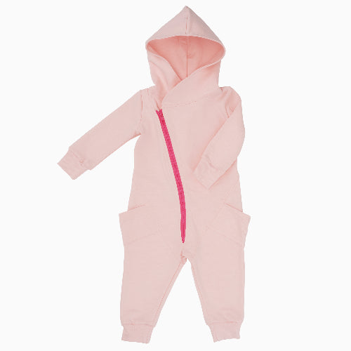 Soft Pink Organic Cotton College Jumpsuit