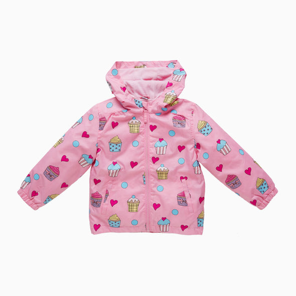 Pink Cupcake Magical Colour Changing Raincoat