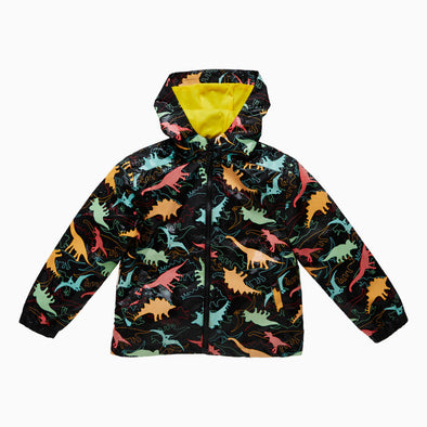 Black Dinosaur Magical Colour Changing Raincoat