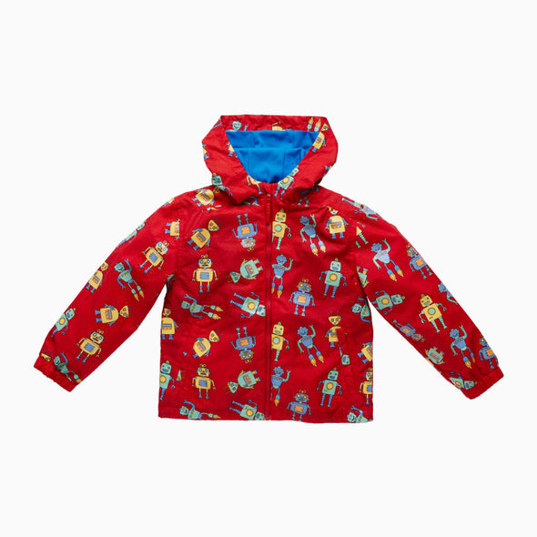 Red Robots Magical Colour Changing Raincoat