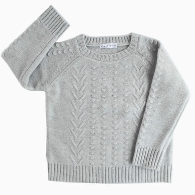Ash Grey Merino Wool Knit Sweater