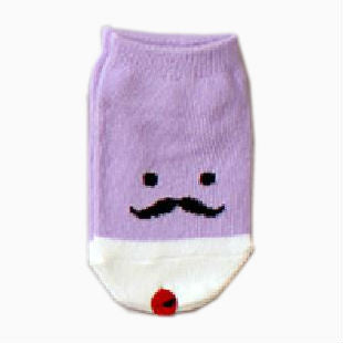 Baby Cotton 'Purple Mustache' Lalala Socks