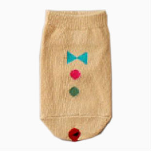 Baby Cotton 'Brown Suit and Tie' Lalala Socks