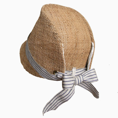 Baby Natural Striped Handmade Straw Hat