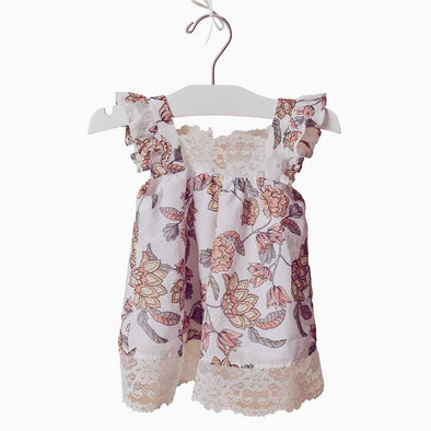 Baby Girl Camellia Flower Dress - Honey Bouquet