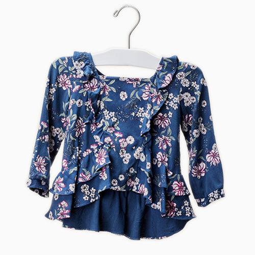 Baby Girl Juniper Floral Blouse - Midnight Floral