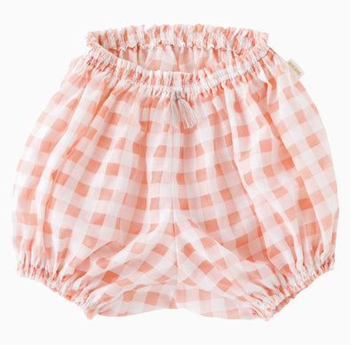 Baby Cotton Checkered Bloomers - Daisy Pink