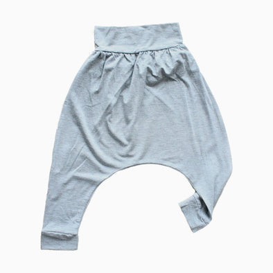 Grey Drop Crotch Harem Pants