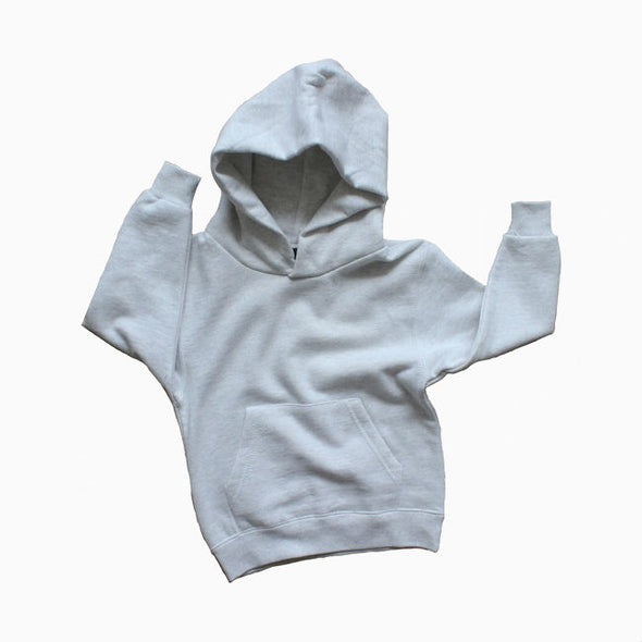 Ultra Light Grey Hooded Top