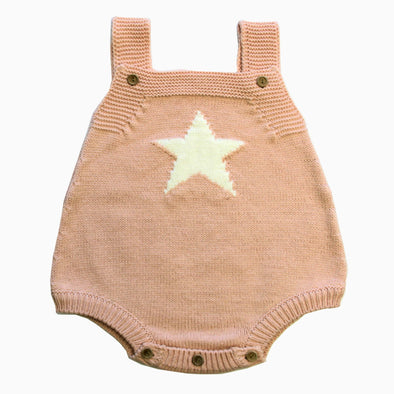 Baby Cotton 'You Are My Star' Knitted Romper