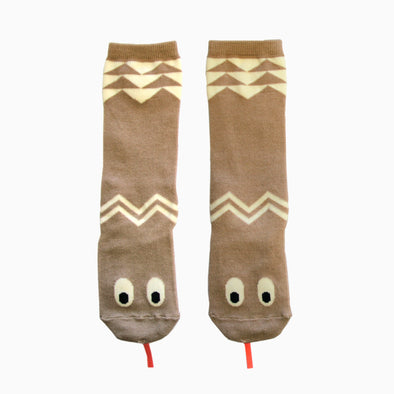 Baby Beige Cartoon Snake Knee Socks