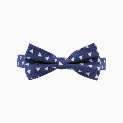 Dark Chambray Triangle Bow Tie