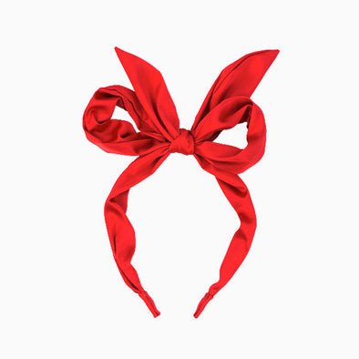 Red Amelia Bow Headband