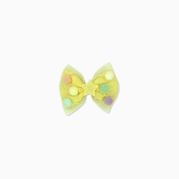 Yellow Party Bow Hair Clip