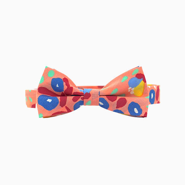 Peach Abstract Bow Tie