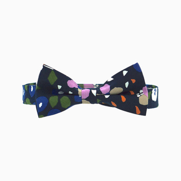 Navy Abstract Bow Tie