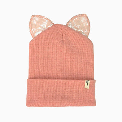 Salmon Pink Pernille Beanie