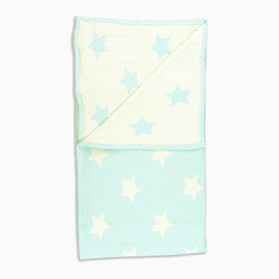 Mint Cotton 'Star' Blanket