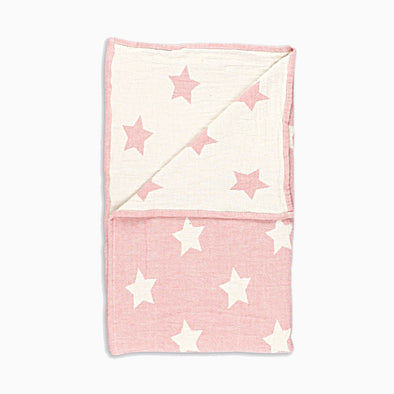 Pink Cotton 'Star' Blanket