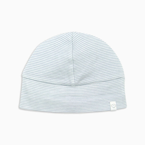 Baby Blue Stripe Organic Cotton Hat