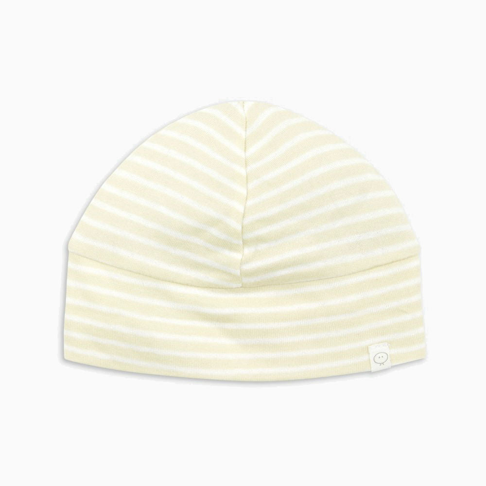 77be1eefb MORI - Baby Yellow Stripe Organic Cotton Newborn Hat