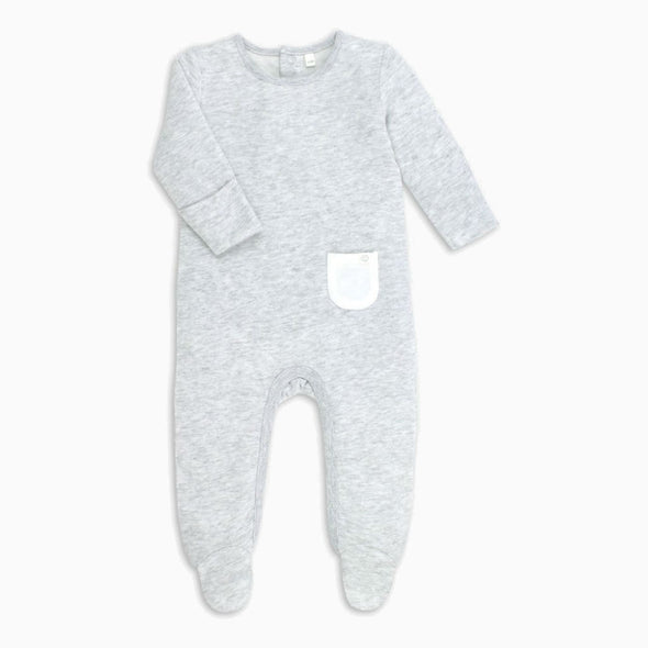 Grey Marl Organic Cotton Sleepsuit