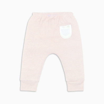 Blush Stripe Organic Cotton Yoga Pants