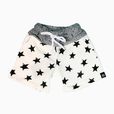 White Cotton 'Vintage Star' Shorts