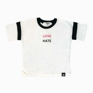 White Cotton 'Love Hate' T-Shirt