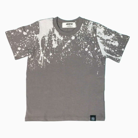 Grey Cotton 'Urban Splash' T-Shirt
