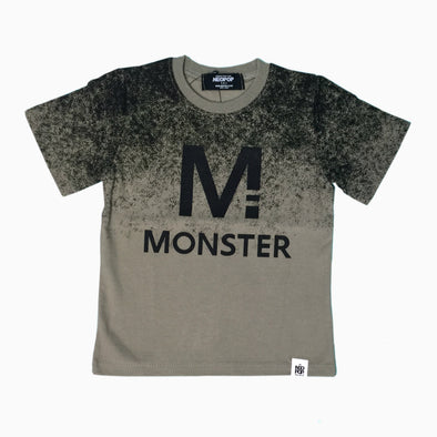 Khaki Green Cotton 'Monster M' T-Shirt